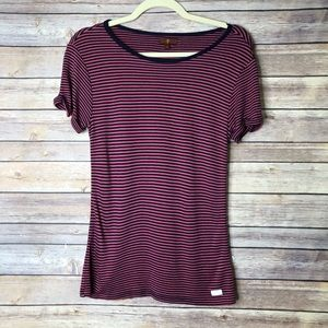 7 For All Mankind Short sleeve striped tee